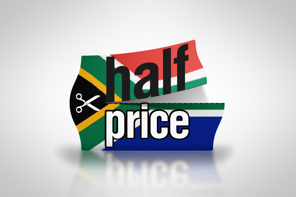 SA on Sale for half price